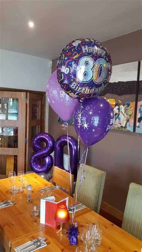 Birthday Balloons – 80th Birthday | Party Balloons and