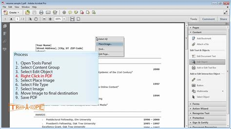 Adding an Image to an Existing PDF using Acrobat X