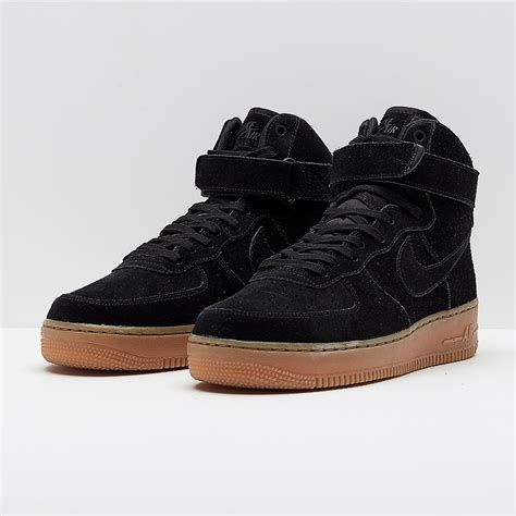 Mens Shoes - Nike Air Force 1 07 Lv8 Suede - Black