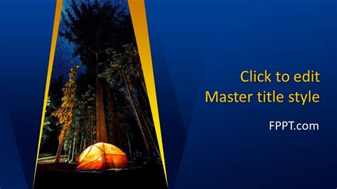 Free Night Camp PowerPoint Template - Free PowerPoint