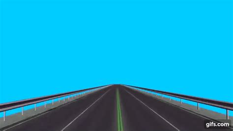 driving a Road / Highway - free green screen animated gif