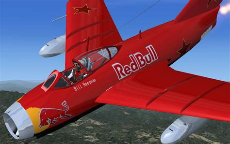Red Bull MiG 15 for FSX